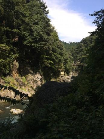 多摩川の渓谷