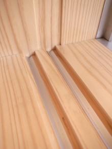 木製内窓の冷気止め