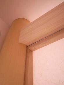 ヒノキの柱と梁