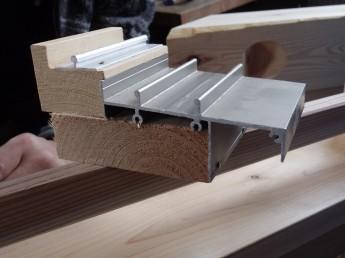 木製サッシレール