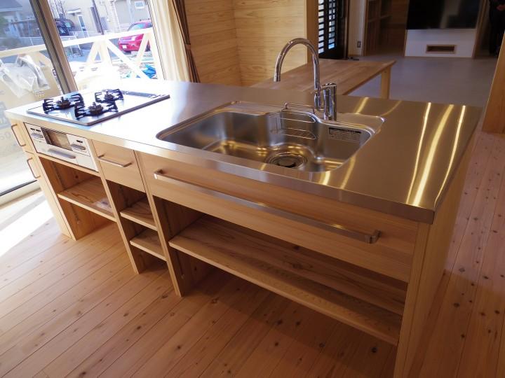 無垢材 キッチン
