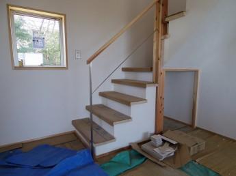 ステンレス階段手すり