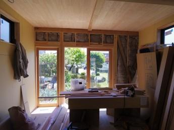 木製サッシ 杉 天井