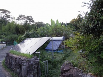 ソーラーパネル 太陽熱温水器