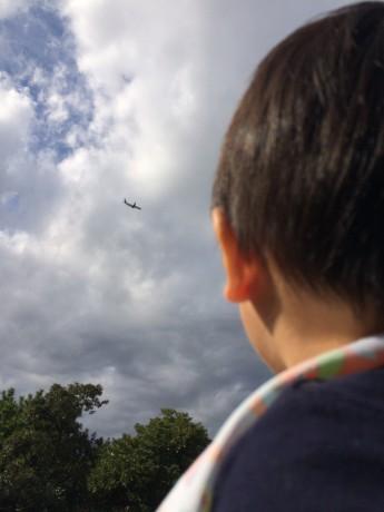 飛行機と息子