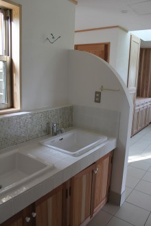 モザイクタイル 洗面台