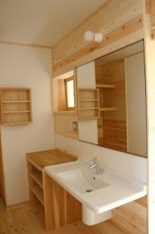 造作家具による洗面室