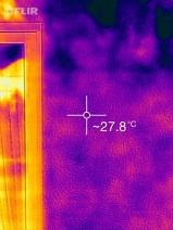 散水後の外壁温度