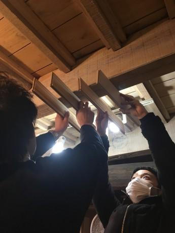 天井ルーバー検討