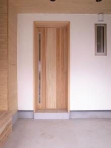 杉の玄関ドア