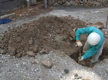 埋蔵文化財試掘調査2