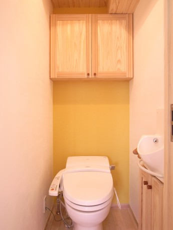 トイレ-黄色のカラークロス