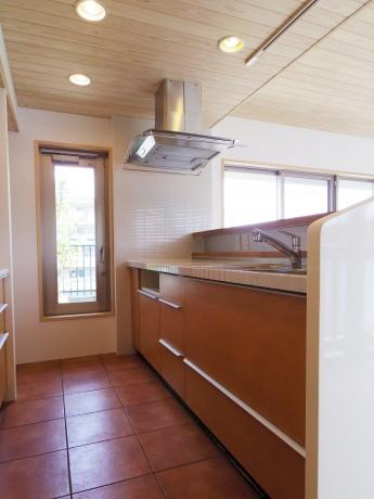 キッチン-床はタイル